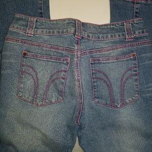 Bisou Bisou Pink stitched jeans sz 8